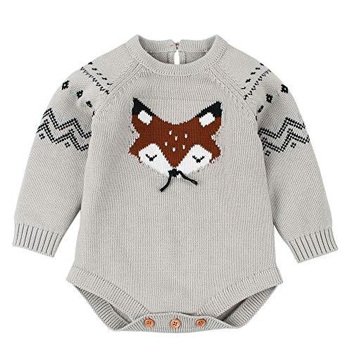 Amlaiworld Ropa Bebé recién Nacido Otoño Invierno Mameluco de Bebé de Otoño Invierno Ropa de Niños De Punto Monos de bebé Niño Niña Camisetas Camisas