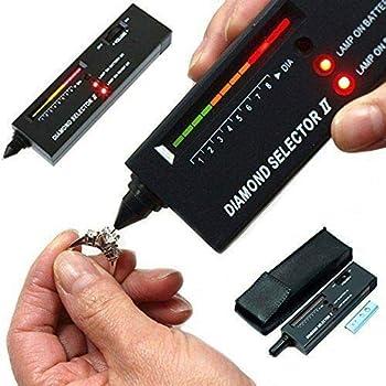Diamond Tester,Diamond Selector Professionale di Alta Precisione per la Misurazione della Pietra Preziosa con Penna a Bottone a Forma di Indicatore di Diamanti