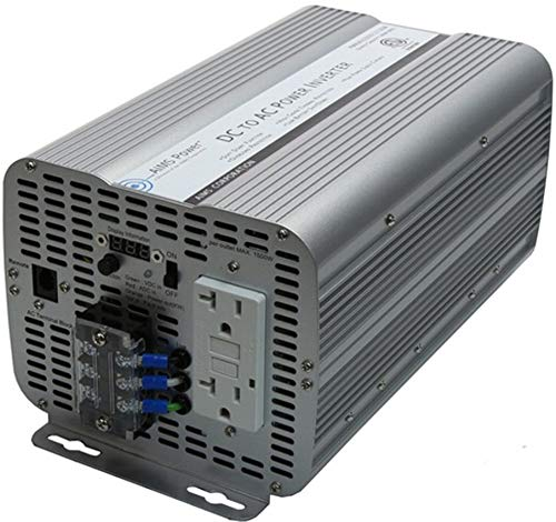AIMS Power 2000 Watt Modified Sine Power Inverter 12Volt DC to 120 Volt AC ETL Certified to UL 458 with GFCI Outlets and AC Terminal Block
