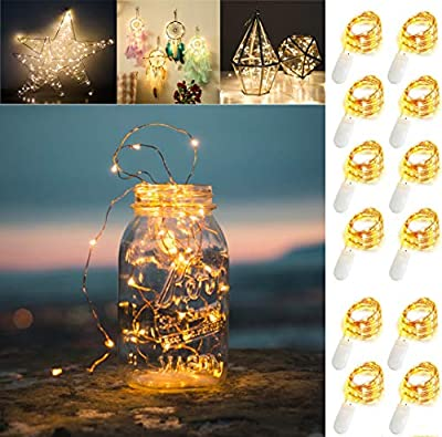 VOOKRY 8 Pack Purple 9.8ft 30 Led Fairy Lights Battery Operated Starry String Light Firefly Lights for Costume Wedding Bedroom Halloween Christmas Easter Party Table Decor(8 Pack-Purple)