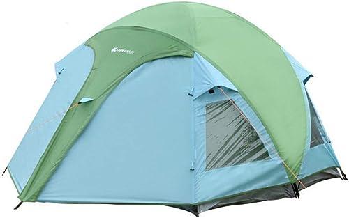 Tente 3-4 Personnes Prougeection Contre Le Froid Chaud Coupe-Vent Randonnée en Plein Air Camping Vert