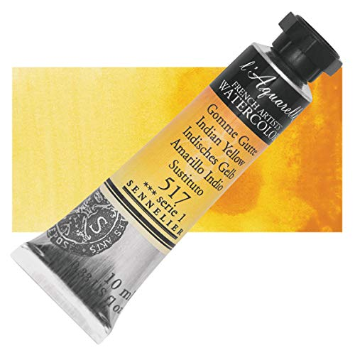 Sennelier l'Aquarelle Watercolor Tubes 10ml - Indian Yellow 10ml Tube