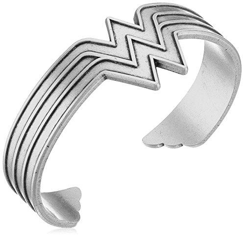 Alex and Ani Wonder Woman Rafaelian Silver Cuff Bracelet