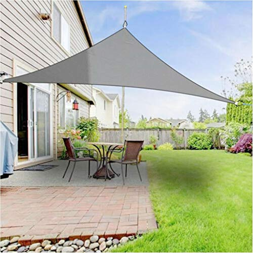 Waterdichte Driehoek Zon Shade Sail Protection Outdoor Canopy Garden Patio Pool Zonnescherm Doek Net, Camping Tent W / 1800D Rope (Color : Gray, Size : 2m x 2m x 2m)