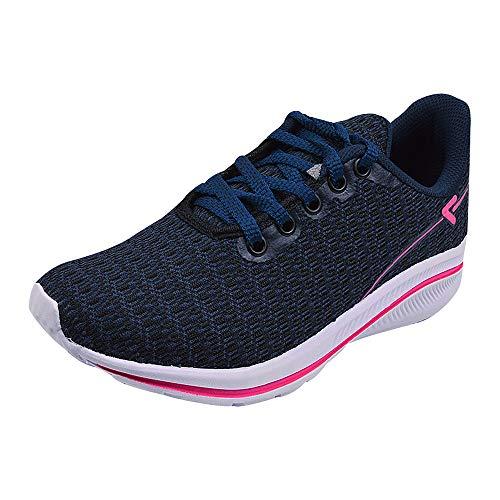 Tênis Feminino Casual Sapatênis Flat Eleganteria Tamanho:38;Cor:Azul Pink