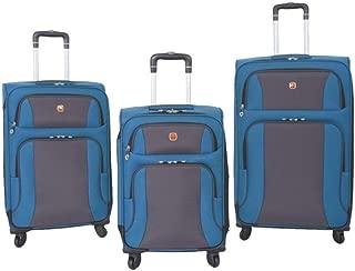SwissGear SA6110 3 Piece Luggage Set Blue/Grey