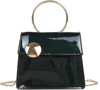 Wultia - Bags for Women Men 2019Women Large Button Crossbody Bag Fashion Patent Leather Chain Bag Bolsa Feminina Green