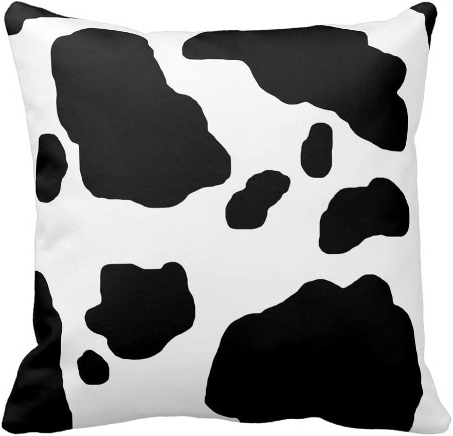 Tshirts Online Black And White Cow Print Throw Pillow Case Decorative Accent Cushion Cover Pillowcase Decor Square Zippered Home Kitchen