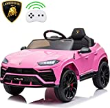 - XMGHTU - Recaceik Kids Ride On Car 12V Rechargeable Toy Vehicle w/ MP3 Remote Control,Equipped with Seat Belts, Four-Wheel Shock Absorbers, Lights (Yellow) (Pink)