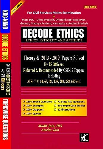 Decode Ethics (2nd Edition) Solved Papers UPSC (2013-19) and State PCS