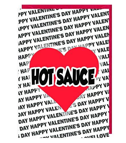 AK Giftshop - Biglietto di San Valentino per la mia salsa piccante