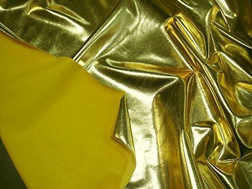 StoffBook B482 - Tessuto in lycra bi-trech, 10% elastan, colore: oro metallizzato