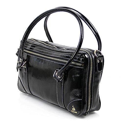 Fluterscooter Black Patent Leather Oboe Bag