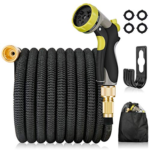 PHYSEN Expandable Garden Hose 50FT Leakproof Lightweight Water Hose with 8...