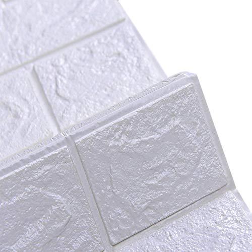 Renquen 6 Stks Bakstenen Behang, 3D Wandpanelen, 3D Baksteen PE Foam DIY Muursticker Zelfklevend Behang, Zelfklevend Behang voor Woonkamer Slaapkamer