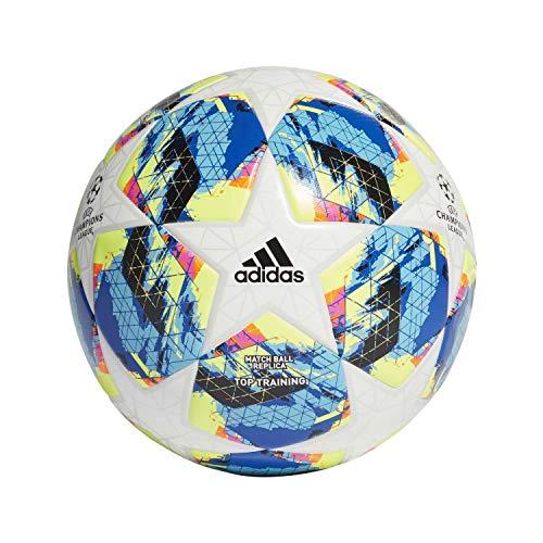 adidas Jungen Finale TTRN Turnierbälle für Fußball, top:White/Bright Cyan/solar Yellow/Shock pink Bottom:Collegiate royal/Black/solar orange, 5