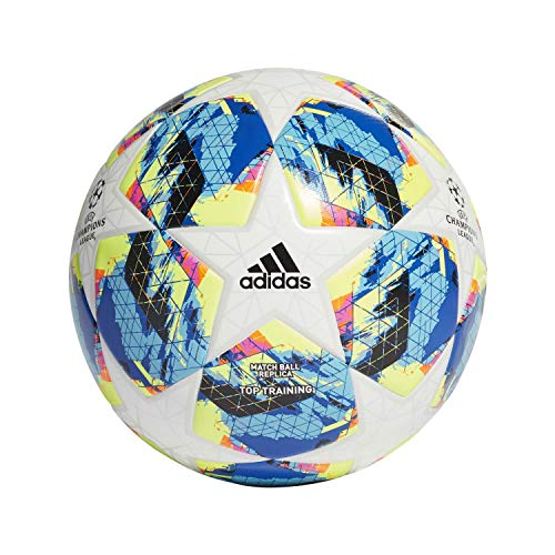 adidas Finale Top Training Ball Balón de Fútbol, Hombres, Multicolor (White/Bright Cyan/Solar Yellow/Shock Pink), 5