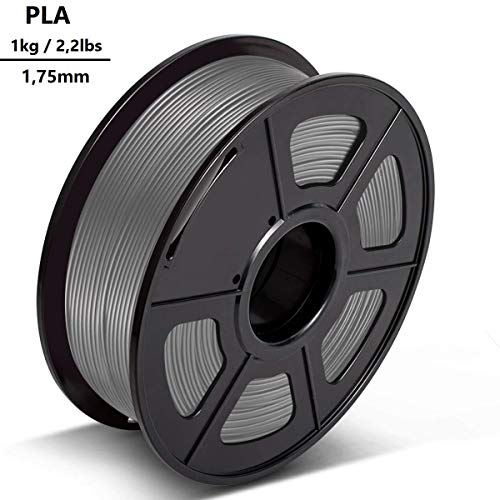 3D-Drucker-Filament PLA 1,75 mm 1kg - Clothink PLA Filament für 3D Printer Grau