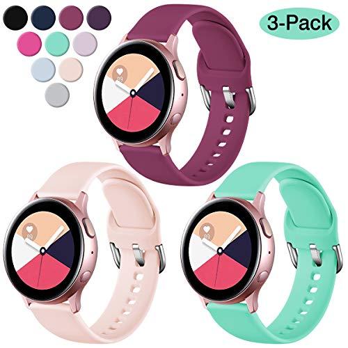 mächtig Vobafe 3-teiliges Armband kompatibel mit Samsung Galaxy Watch Active / Active 2 (40 mm / 44 mm), weich…