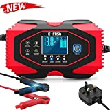 reakoo Car Battery Charger, 12V/24V car battery charger Charge, 7-Stage Automatic Battery Charger Maintainer with Six Functions, Suitable for More Types of Batteries