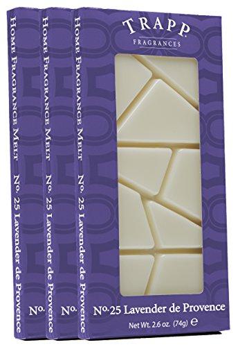 Trapp Home Fragrance Melt, No. 25 Lavender de Provence, 2.6-Ounce, 3-Pack