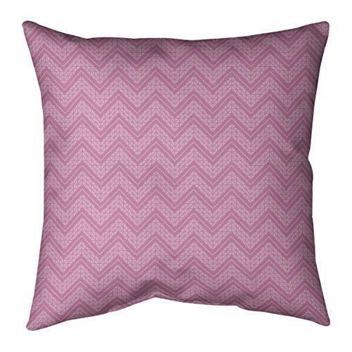Great Deal! ArtVerse Rhonda Cheval Monochromatic Hand Drawn Chevron Pattern Pillow (w/Removable Inse...