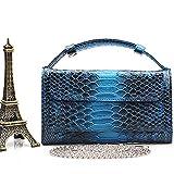 Original Women Snake Clutch Wallets Alligator Genuine Cow Leather Shoulder Bag Long Purse Female Wallet,Snake Dark Blue