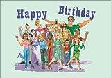 All of Us - Humorous Cartoon Birthday Greeting Card.
