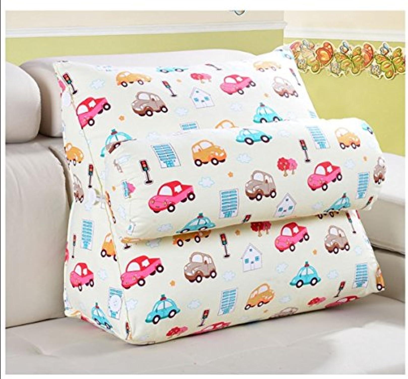Dossier De Chevet Coussin triangle de lit Coussin d'oreiller de taille Coussin triangle d'ame molle d'oreiller comprenant le bureau des coussins de cou (taille   45  50  20cm)