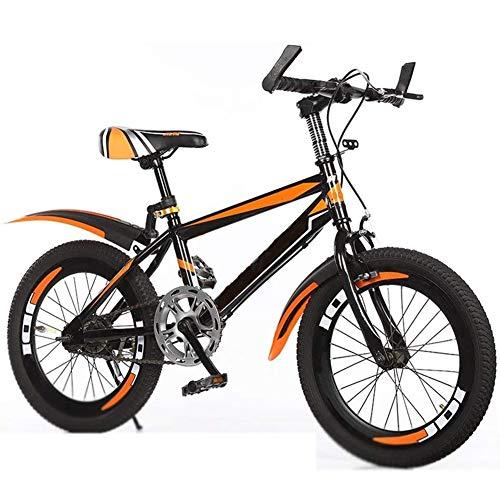 QAZWSX Kids' Bikes, 18/20/22 inChildren's Mountain Bike Student Pedal Bicycle 3~16 Year Old Children Bicycle Boy and Girl Speed Adjustable Racing Bike Birthday Present,Yellow,18inches