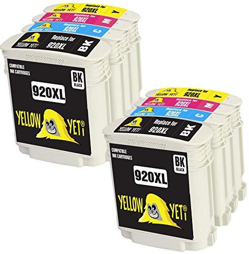 Yellow Yeti Reemplazo para HP 920 920XL Cartuchos de Tinta compatibles con HP OfficeJet 6000 6500 6500A 7000 7500A (2 Negro + 2 Cian + 2 Magenta + 2 Amarillo)