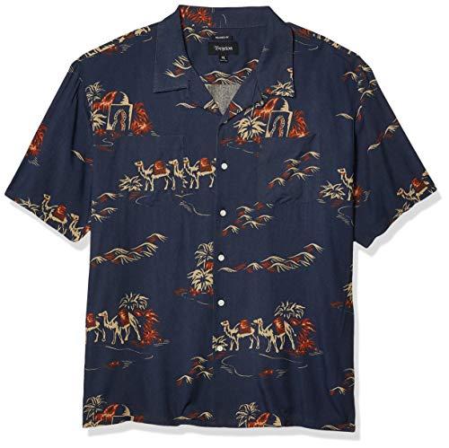 Brixton Herren Cruze S/S WVN Hemd mit Button-Down-Kragen, Mehrfarbig, Groß