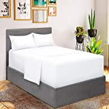 Mellanni Extra Deep Pocket Sheets - Queen Size Sheet Set - 4 Piece 1800 Brushed Microfiber Bedding with Extra Deep Pocket Fitted Sheet - Easily Fits 18-21 inch Mattress (Queen, White)