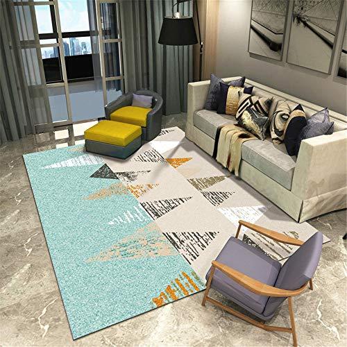 DJHWWD tapijten, multisize, breed gestreept, pluizig, driehoekig patroon, zachte en duurzame woonkamertapijt, geluidsdicht, onderhoudsvriendelijk, woonkamermat