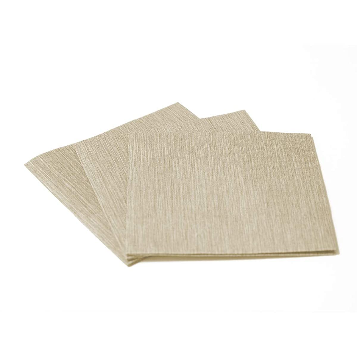 the napkins Deluxe Cocktail - Napkin 25X25Cm - ? Ply Luxury Paper Napkin - Feels Like Cloth (Taupe)