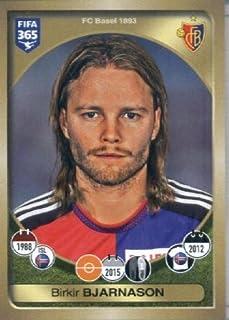 2016-17 Panini FIFA 365 #223 Birkir Bjarnason FC Basel 1893 Soccer Sticker