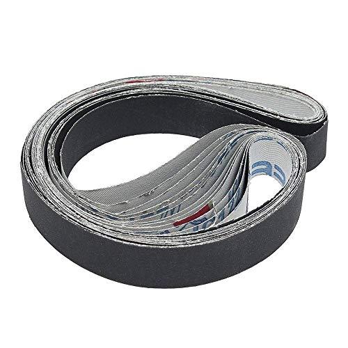 LIANGANAN 12pcs 1x30 pulgadas bandas abrasivas de silicio abrasivo CarbideGrits bandas abrasivas 400/600/800/1000 esmerilado y pulido
