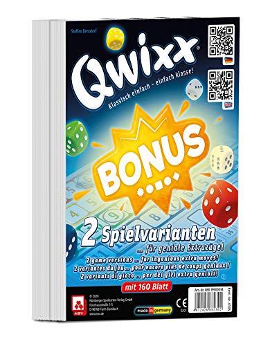 NSV - 4105 - QWIXX - Bonus - International - Zusatzblöcke 2er Set - Würfelspiel