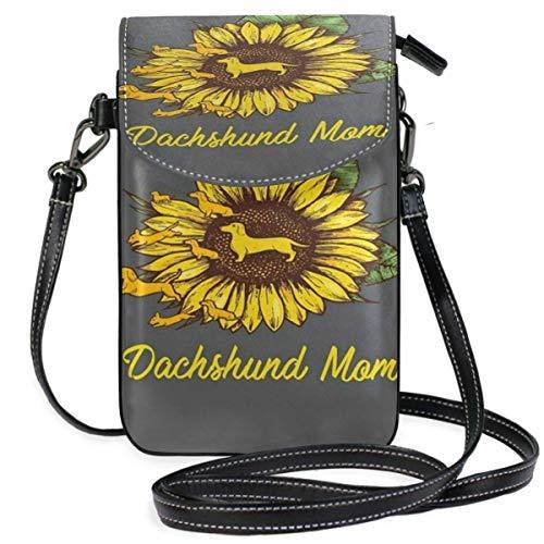XCNGG bolso del teléfono Dachshund Cell Phone Purse Wallet for Women Girl Small Crossbody Purse Bags