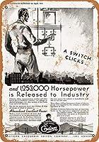 2個 20 * 30CMメタルサイン-1930年サザンカリフォルニアエジソン メタルプレート レトロ アメリカン ブリキ 看板