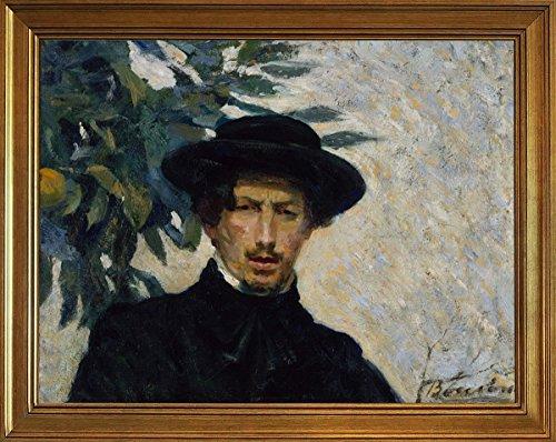 Berkin Arts Classic Framed Umberto Boccioni Giclee Canvas Print Paintings Poster Reproduction(Self-Portrait)