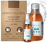 Argento Colloidale 100% Puro 40 PPM 300mL ● Tappo Dosatore Pratico +...