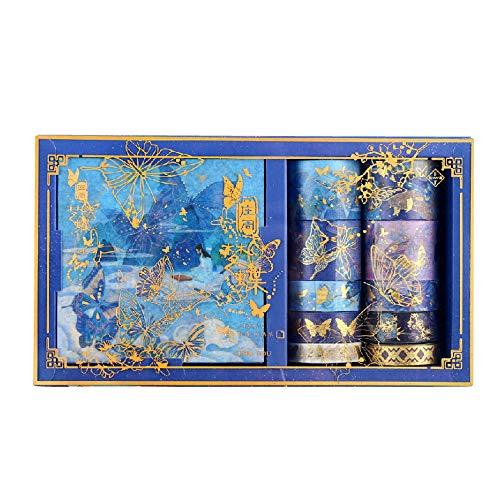 Cinta Washi Cinta Adhesiva Decorativa,20 Pcs Cinta Decorativa para Manualidades,Cinta Decorativa para DIY Crafts Scrapbooking,Para DIY Manualidades,Tarjetas,Scrapbook,Revistas y Envoltura de Regalos