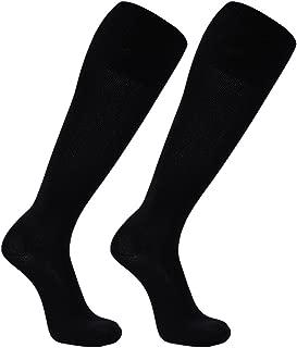 FOOTPLUS Unisex Knee High Solid Football Soccer Socks, 2-12 Pairs
