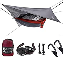 """Easthills Outdoors Jungle Explorer 118"""" x 79"""" Double Camping Hammock with Removable Mosquito Bug Net and Rainfly"""