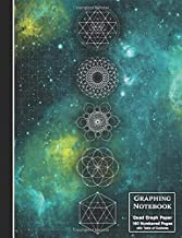 Graphing Notebook: Sacred Geometry Space Nebula Quad Rule Graph Paper - Composition Size Math Journal - 160 Numbered Pages with Table of Contents (Top Scholar)