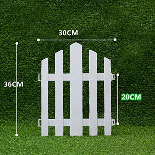 yeehao Weiß PVC Plastik Zaun Europäische Stil für Garten Einfahrt Gates Weihnachtsbaum - 1, 36 * 30cm