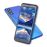 Smartphone Portable Débloquée, Android Quad-Core Telephone Portable Pas Cher avec Plein écran de 6.1 Pouces, 3Go + 32Go, 8MP + 13MP, Batterie 4000mAh, GPS, WiFi [Classe énergétique A+++](Blue)