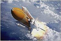 雲の上を飛ぶHDスペースシャトル9012481(52x38cmの大人のためのプレミアム500ピースジグソーパズル)