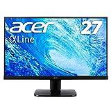 Acer モニター ディスプレイ AlphaLine 27インチ KA270HAbmidx フルHD VA フレームレス HDMI DVI D-Sub スピーカー内蔵 ブルーライト軽減 VESA対応